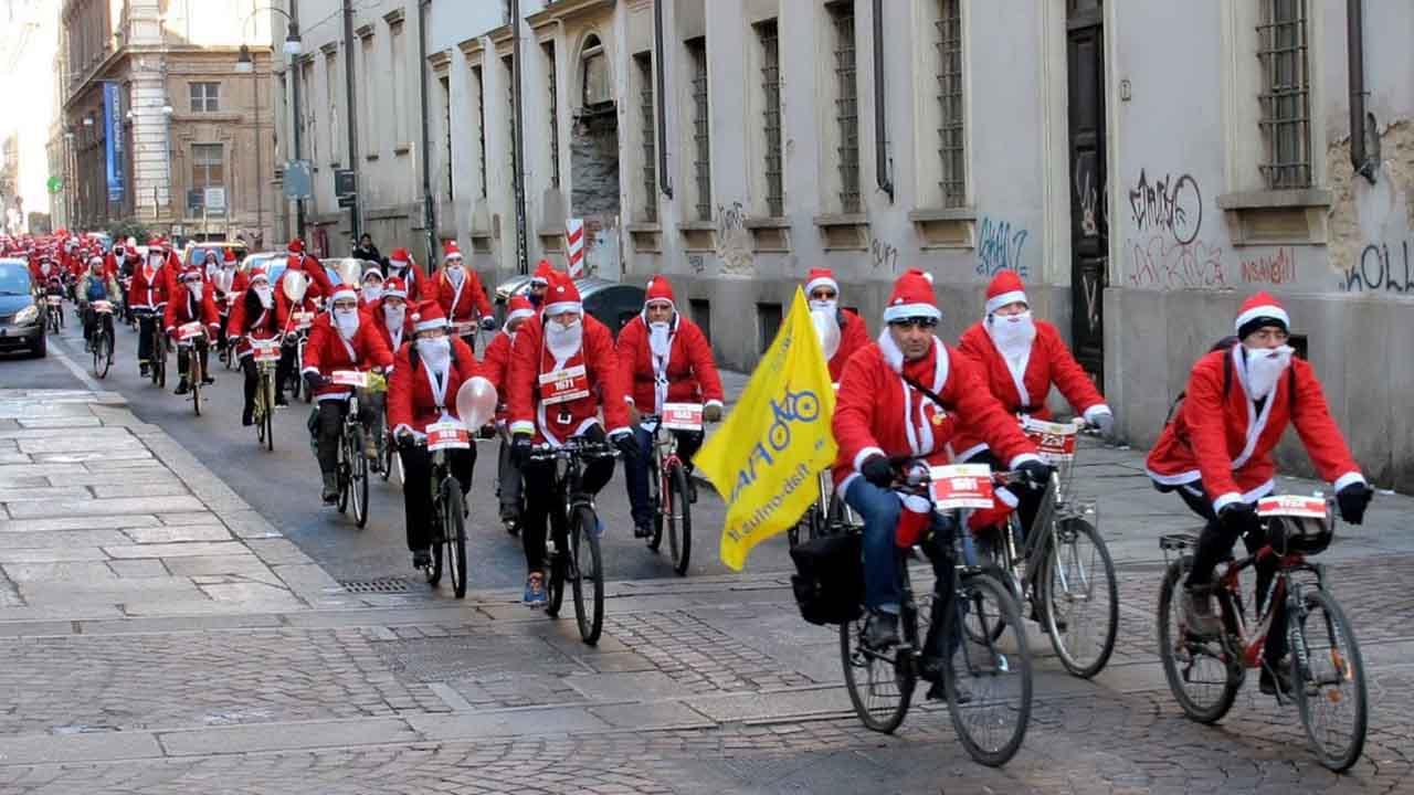 Un Babbo Natale in bici bici &Dintorni