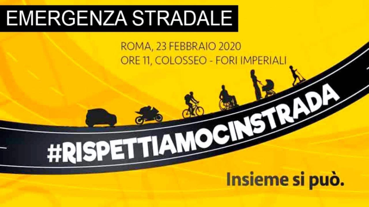 #Rispettiamocinstrada- E' emergenza stradale: il 23 febbraio tutti a Roma bici &Dintorni